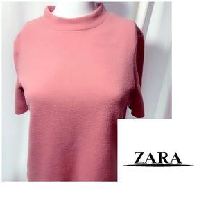 Zara Pink Crop Sweater